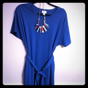 Ammmmaaazing LuLaRoe Marly Solid Royal Blue XL